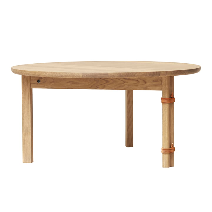 Strap coffee table, Ø 90 cm, light oak by Form & Refine