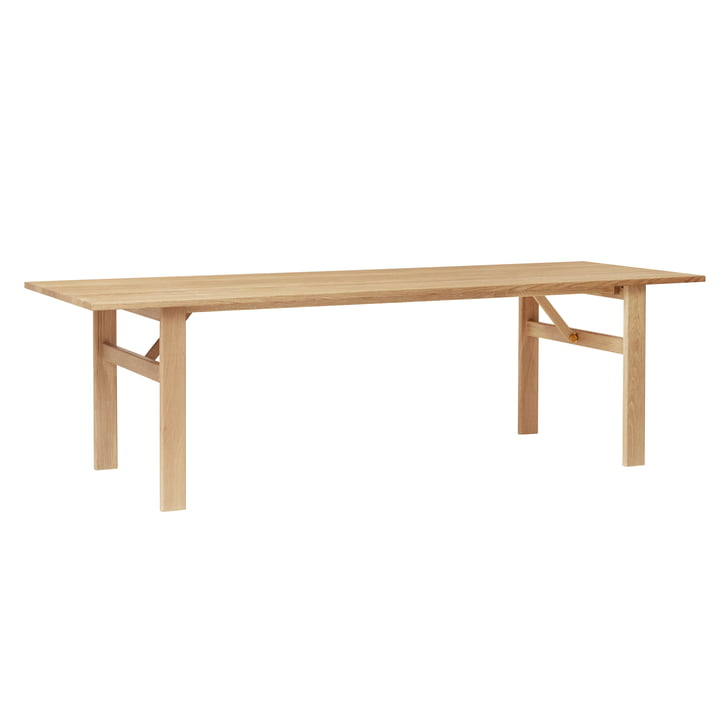 Damsbo dining table, 245 x 90 cm, white oak by Form & Refine