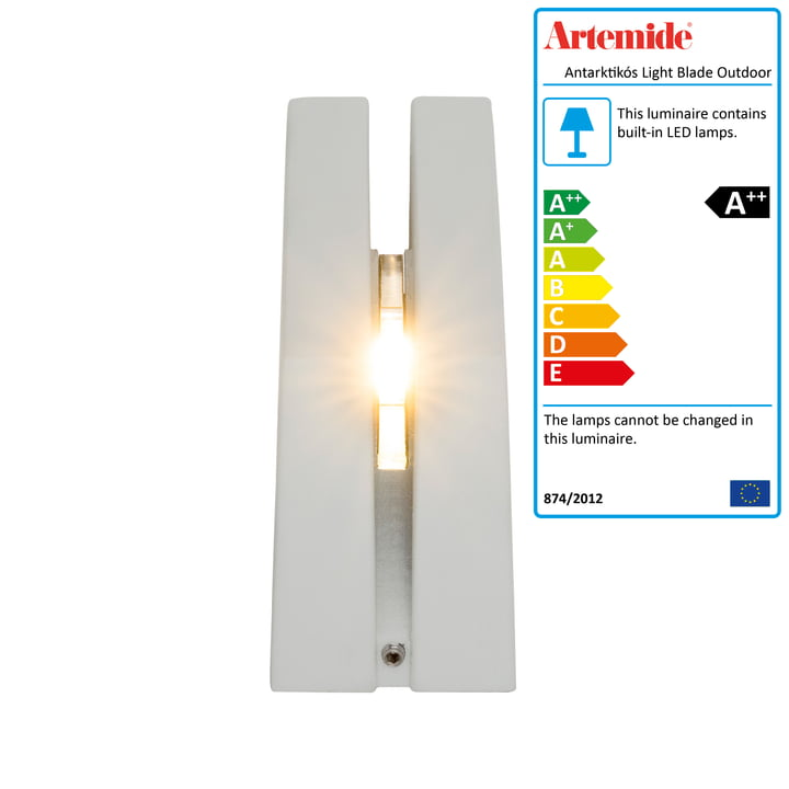 Antarktikós Light Blade Outdoor LED lamp by Artemide