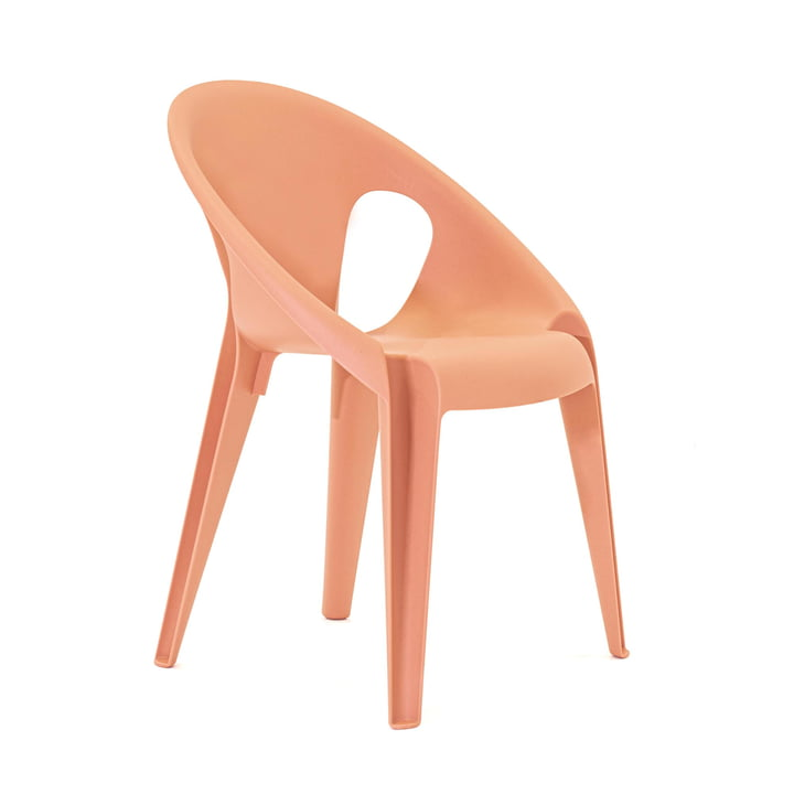 Bell chair in the color sunrose orange