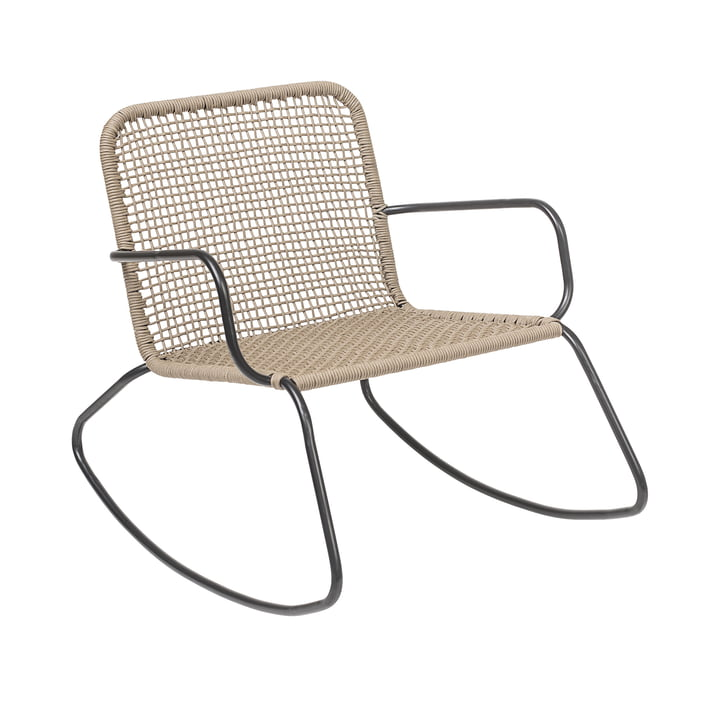 Mundo rocking chair, frame metal / natural by Bloomingville