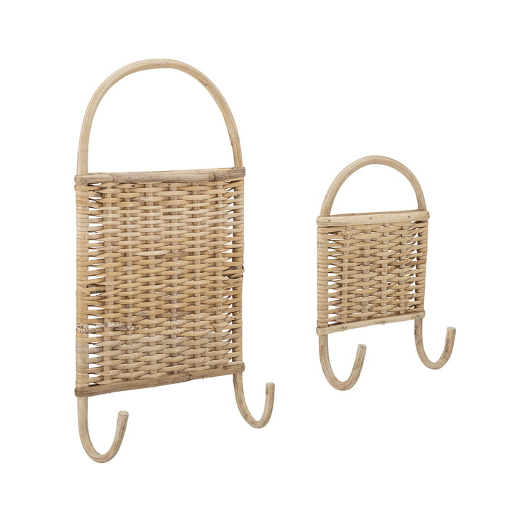 Christiane Cane wall hook, Cane natural (set of 2) from Bloomingville