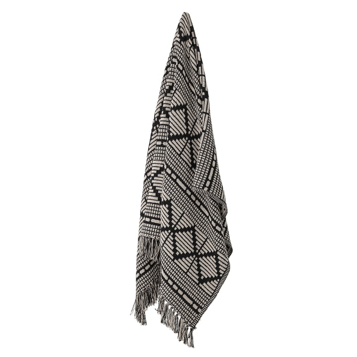 Frederika blanket made of recycled cotton, 160 x 130 cm, black from Bloomingville .