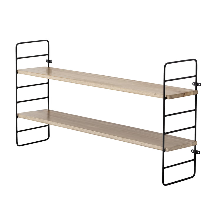 North shelf, 65 cm from Bloomingville in black / natural