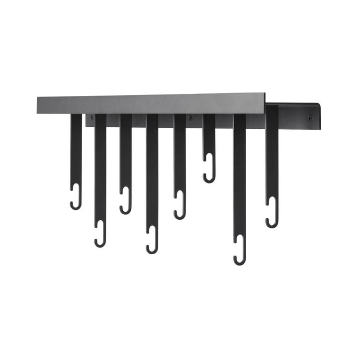 Atelier wall coat rack, anthracite by Design House Stockholm
