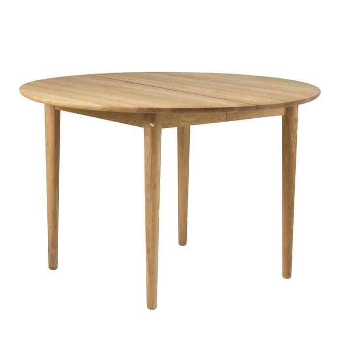 C62E dining table Ø 115 cm, natural oak from FDB Møbler