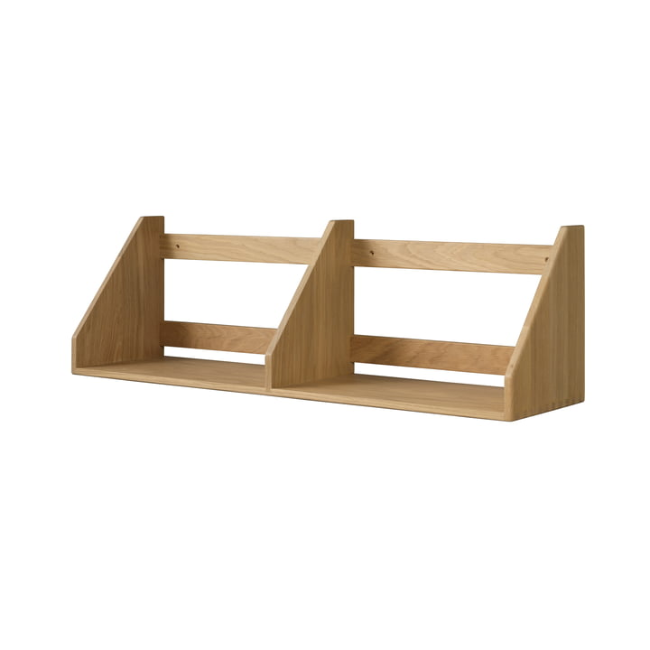 B5 wall shelf 21 x 80 cm, natural oak by FDB Møbler