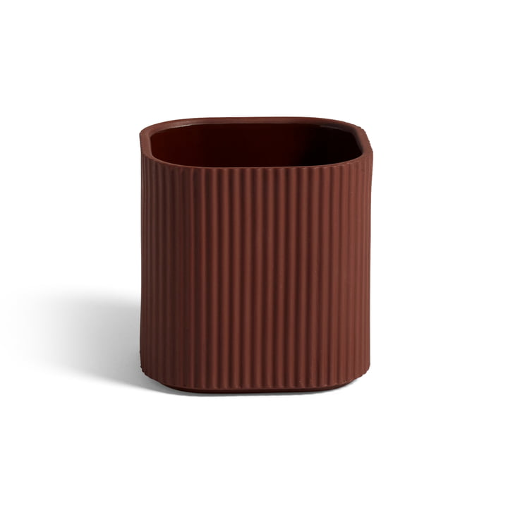 Facade herb pot, 11 x 11 cm, dark terracotta by Hay .