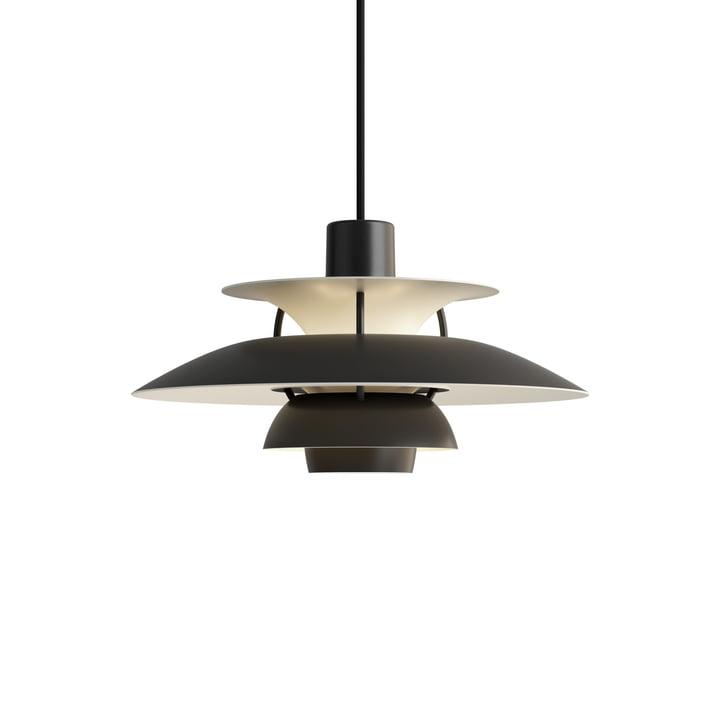 PH 5 Mini pendant lamp, monochrome black by Louis Poulsen .