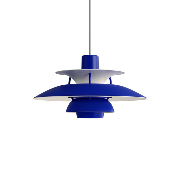 PH 5 Mini pendant lamp, monochrome blue by Louis Poulsen .