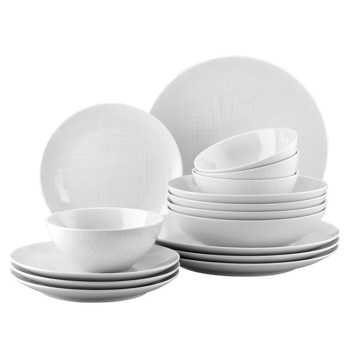 Mesh white dinner set, cereal bowl (set of 16) by Rosenthal