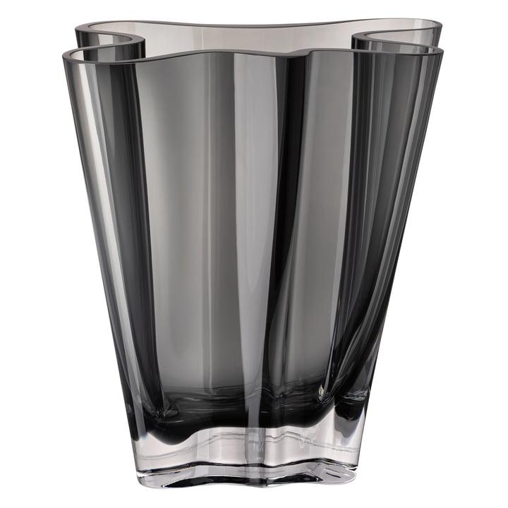 Flux vase, 26 cm / gray by Rosenthal