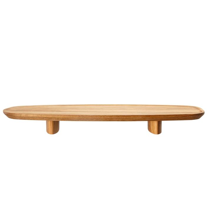 Rosenthal - Junto tray on base H 4.5 cm, 45 x 16 cm, oak