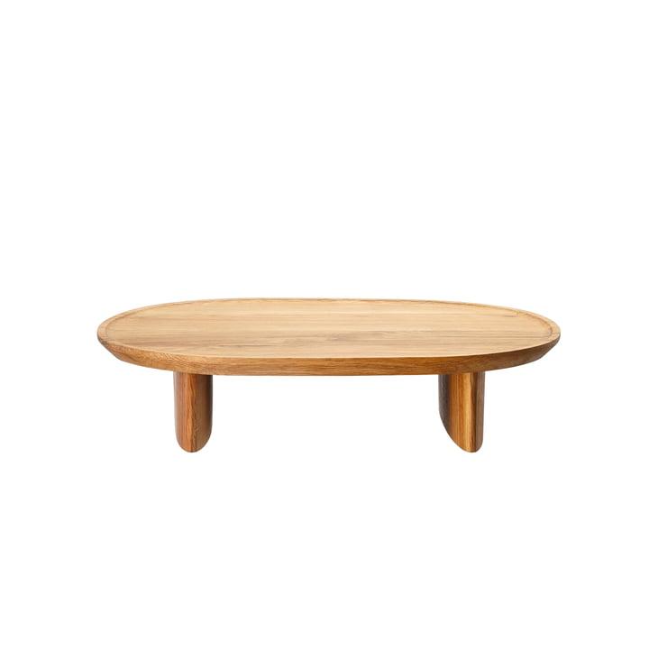 Junto tray on base H 7.5 cm, 35 x 30 cm, oak by Rosenthal