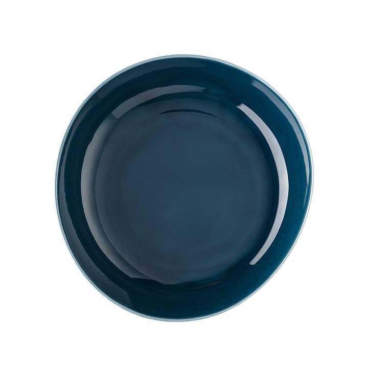 Junto plate Ø 22 cm deep, ocean blue by Rosenthal