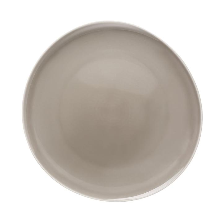 Junto plate Ø 27 cm flat, pearl grey by Rosenthal