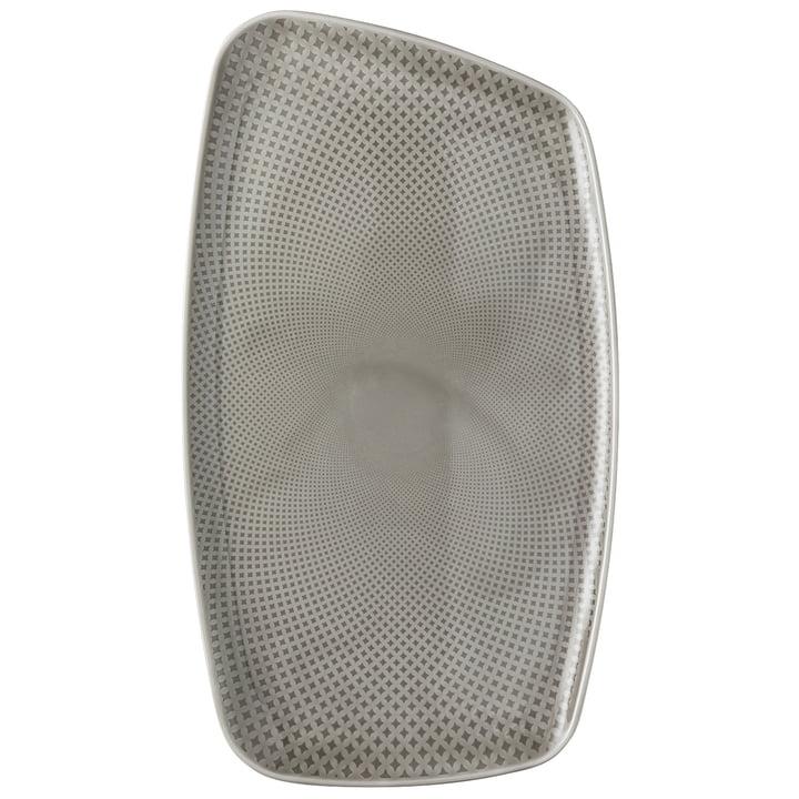 Junto plate, 36 x 21 cm, pearl grey by Rosenthal