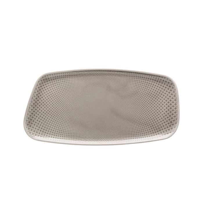 Junto plate, 30 x 15 cm, pearl grey by Rosenthal