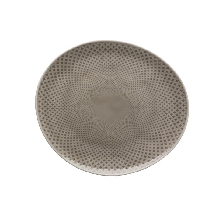 Junto plate Ø 22 cm flat, pearl grey by Rosenthal