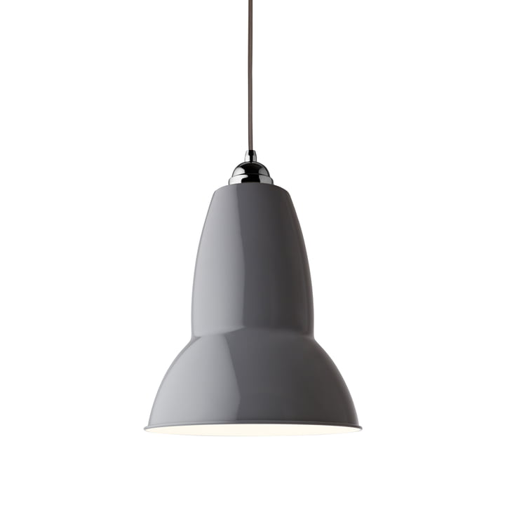 Original 1227 Maxi pendant light, dove gray (cable: gray) by Anglepoise