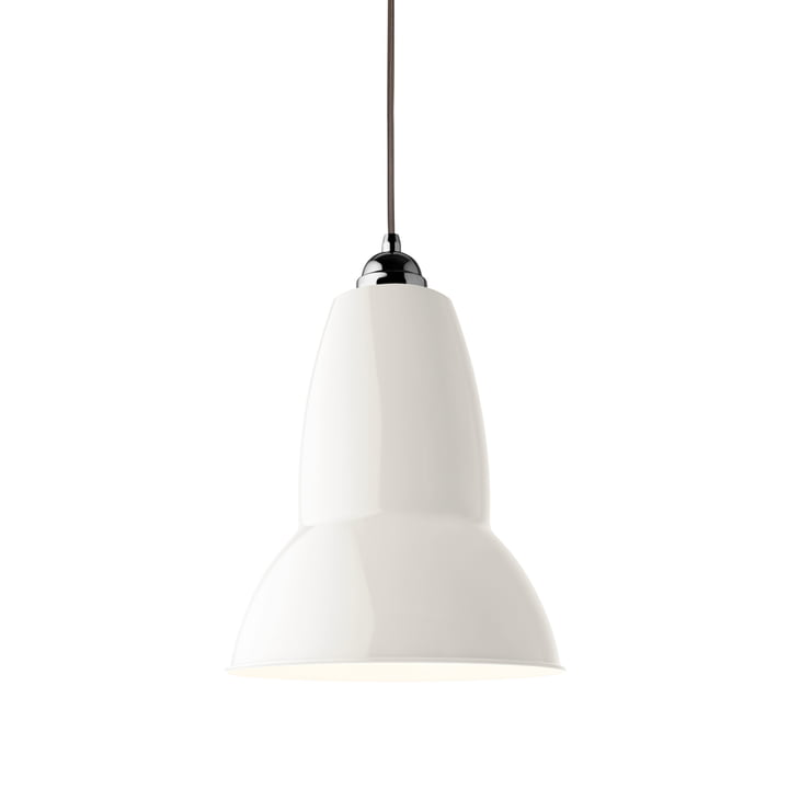Original 1227 Maxi pendant lamp, linen white (cable: gray) by Anglepoise