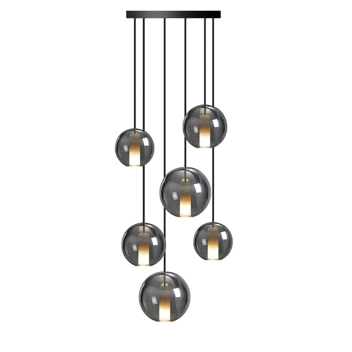 The Moon pendant luminaire 410, Raven (TT-09) from the NUD Collection