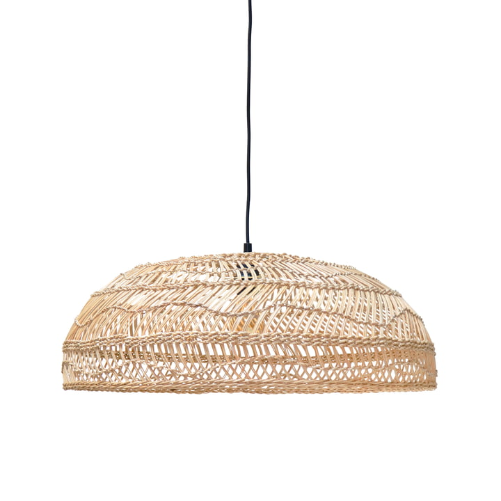 The Wicker pendant lamp Flat, Ø 60 cm, natural by HKliving