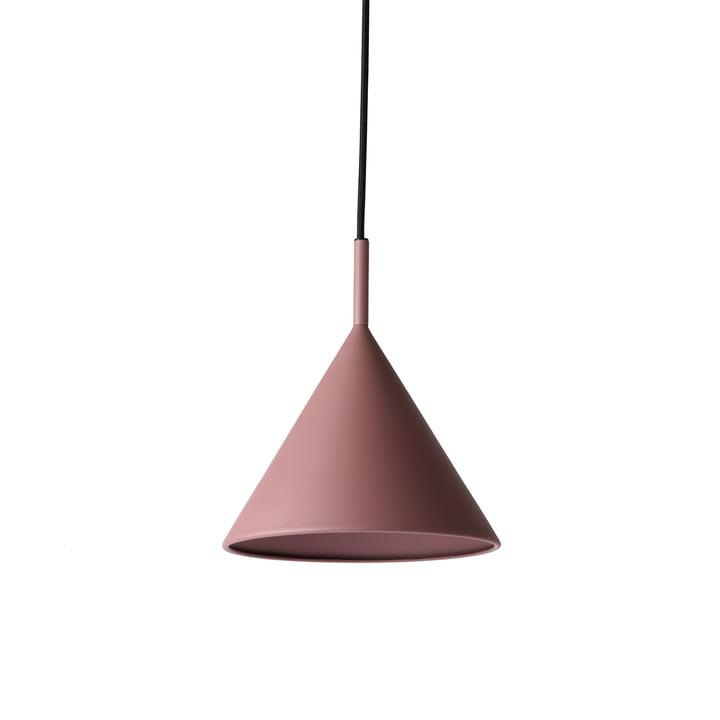 HKliving - Triangle pendant lamp, M Ø 22 x H 25 cm, matt purple