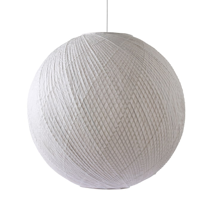 The bamboo / paper pendant lamp Ball, Ø 80 cm, white from HKliving