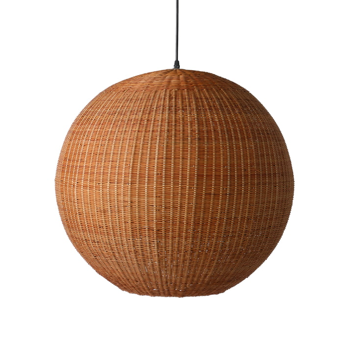 The bamboo pendant lamp Ball, Ø 60 cm, natural by HKliving