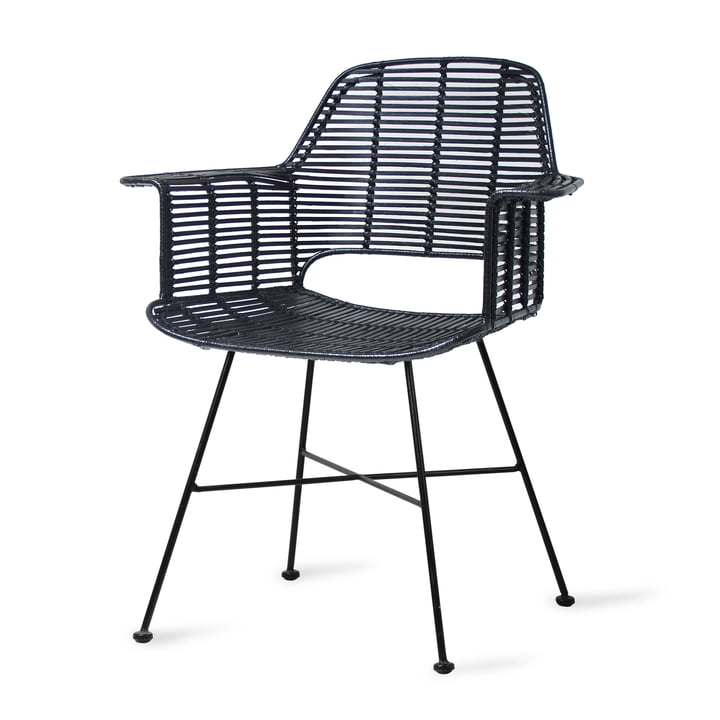 Rattan Tub Chair, black from HKliving