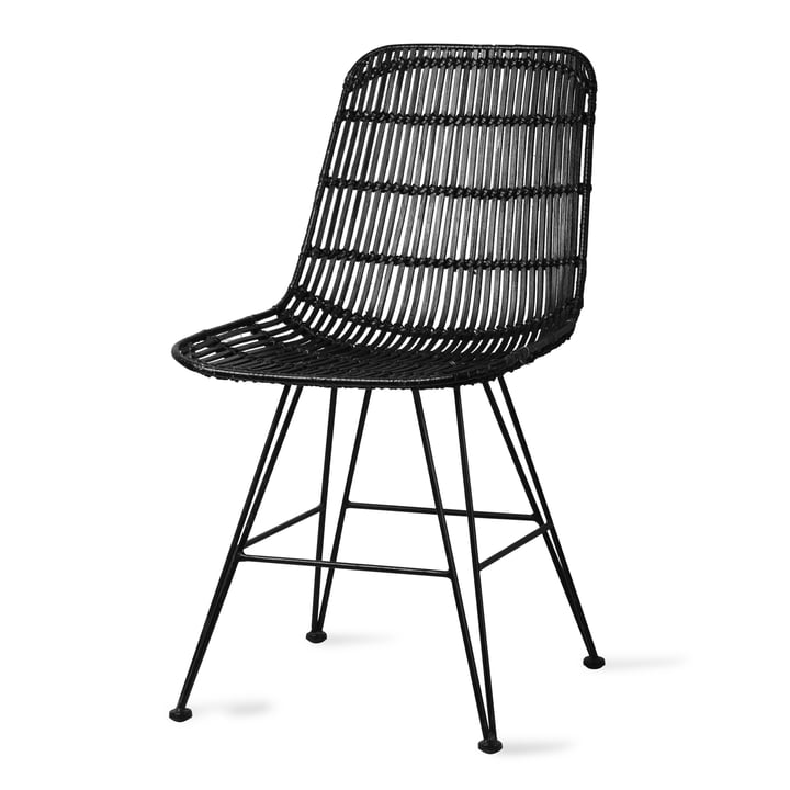 Rattan Dining chair, black from HKliving