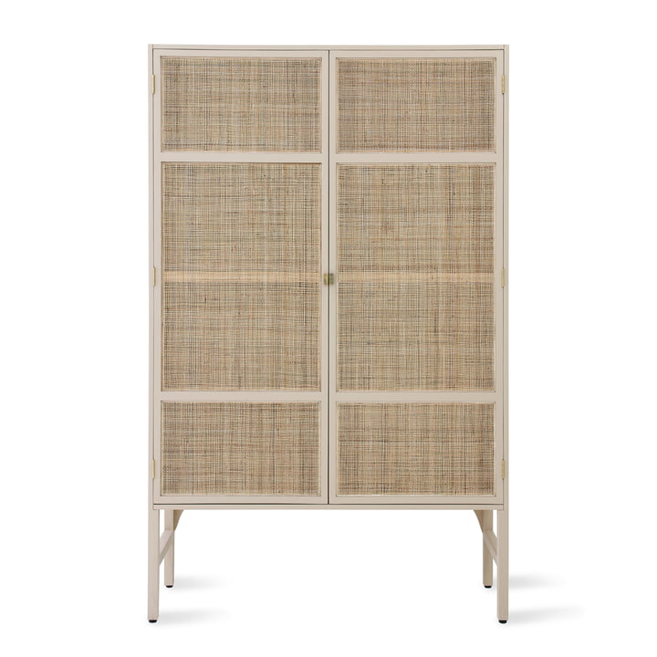 Retro Webbing cabinet from HKliving with wickerwork in sand