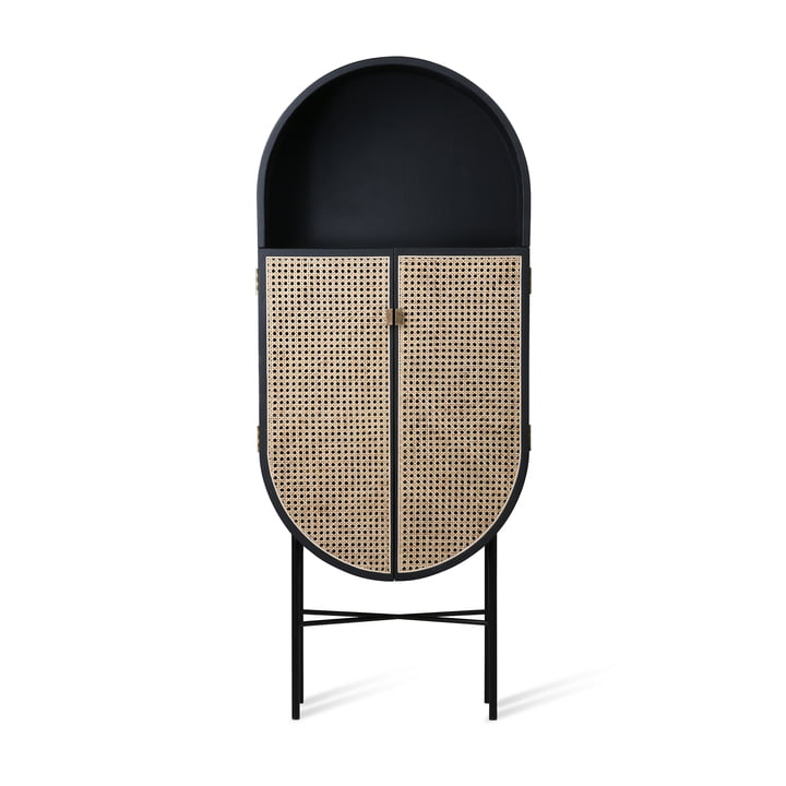 Retro cupboard oval from HKliving in black