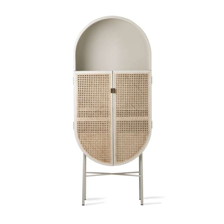 Retro cupboard from HKliving oval in light gray