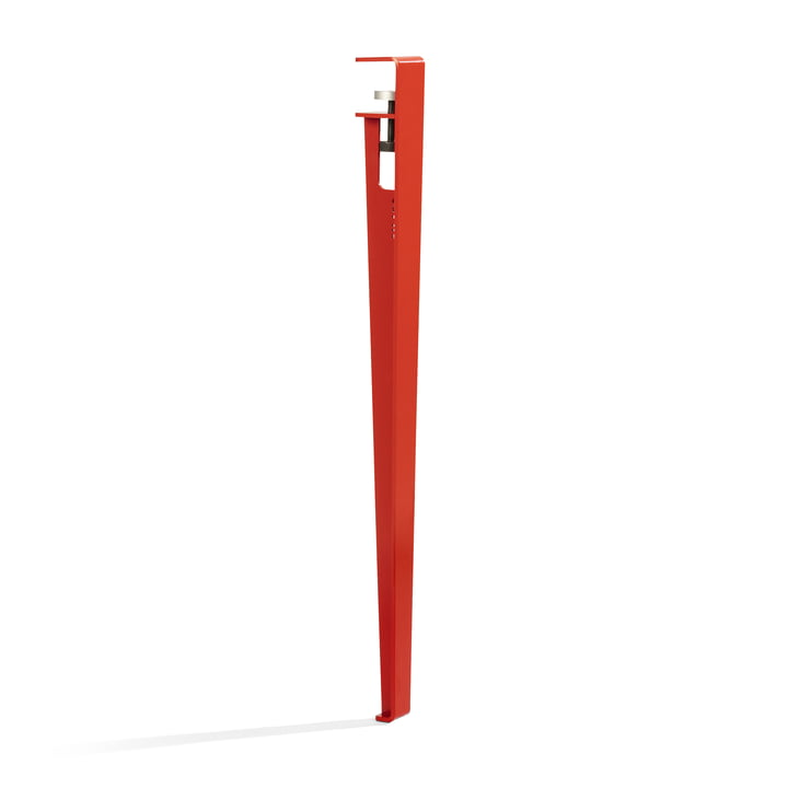 The table and desk leg H 75 cm, tomato red by TipToe