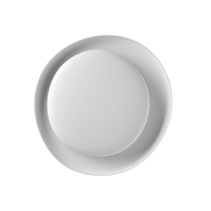 The Bahia Mini LED wall and ceiling lamp, white (dimmable) by Foscarini