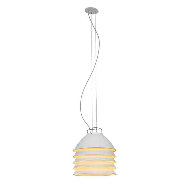 The Five Pack pendant lamp, white / yellow by Ingo Maurer