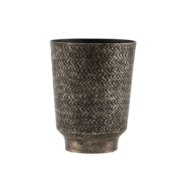 The Oli flower pot, Ø 14.5 x H 18 cm, matt black Finish by House Doctor