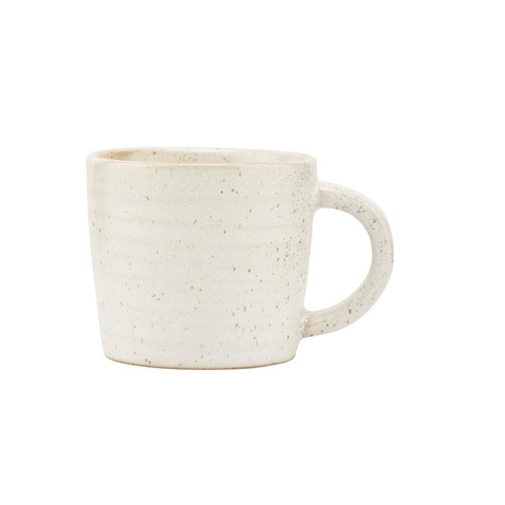 House Doctor - mug with handle Pion, gray / white