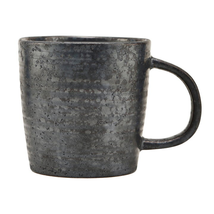 Mug with handle Pion, black / brown by House Doctor