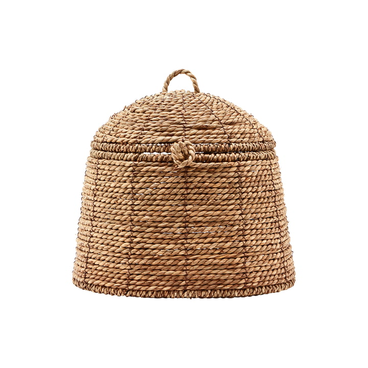 The basket with lid, Rama, small, nature by House Doctor