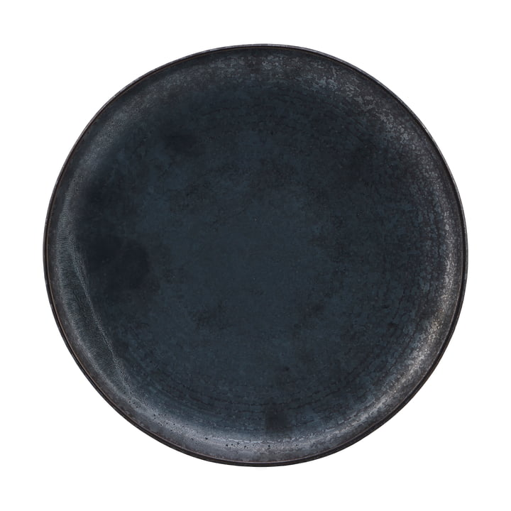Plate Pion, Ø 28.5 cm, black / brown by House Doctor