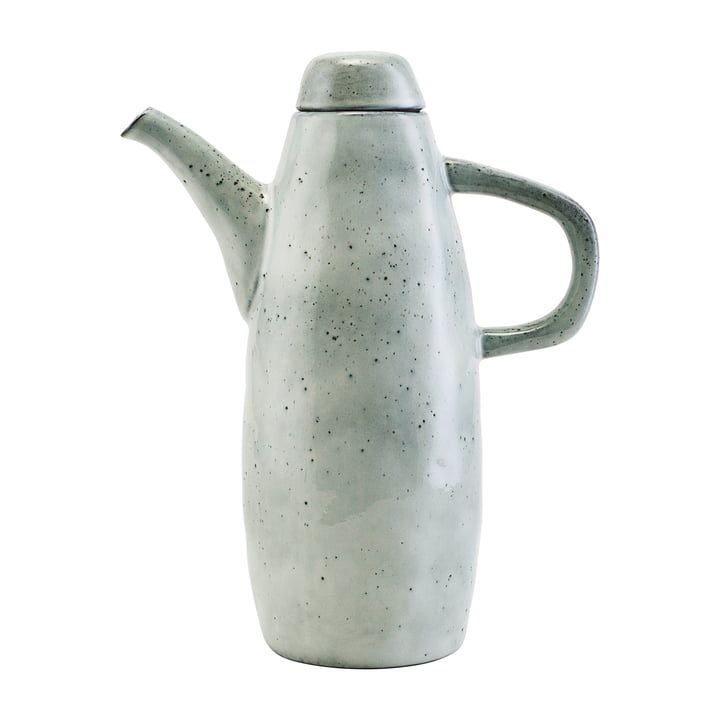 The Rustic jug with lid H 26.5 cm, gray-blue by House Doctor