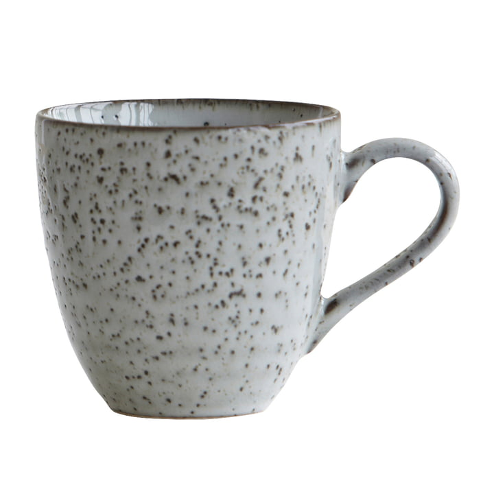 The Rustic cup H 9 cm, gray-blue by House Doctor