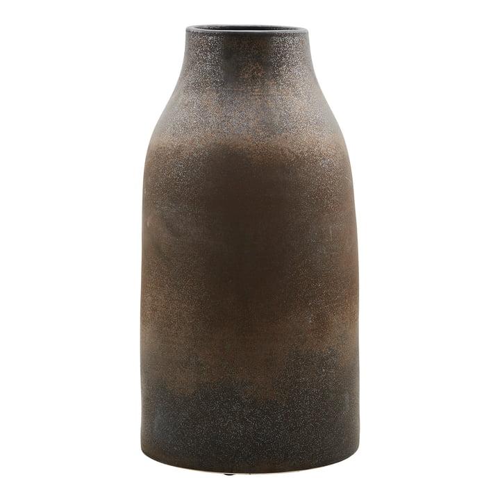 The Wymm vase, Ø 32 x H 65 cm, black / brown