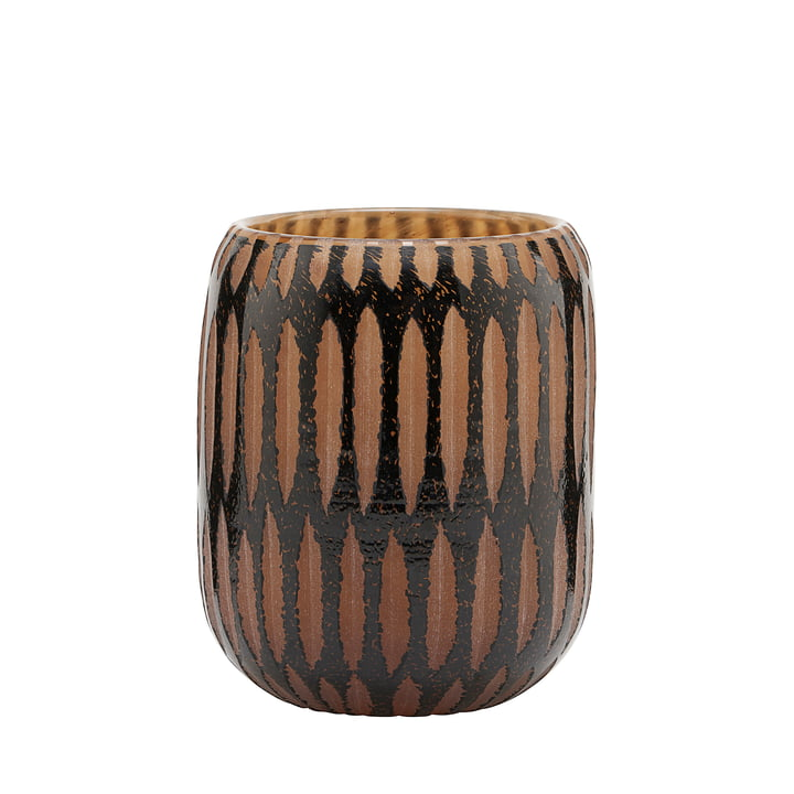 The vase, Pimpri, Ø 10 x H 12 cm, black / brown by House Doctor