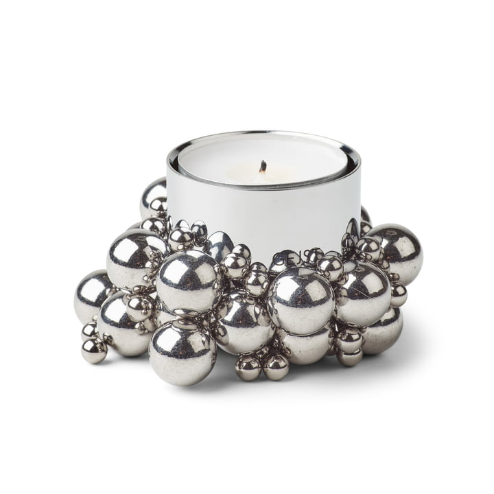 Molecyl tealight holder 1, chrome by Gejst