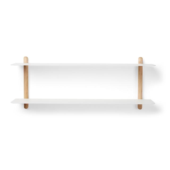 Nivo wall shelf F by Gejst in light oak / white