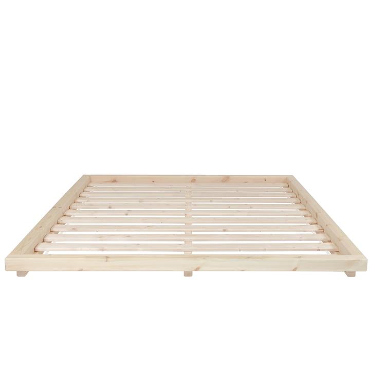 The Dock bedstead with slatted frame, 160 x 200 cm, clear varnished pine from Karup Design